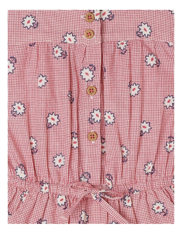 Emily Linen Blend Flutter Sleeve Playsuit with Elastic Waist image 2