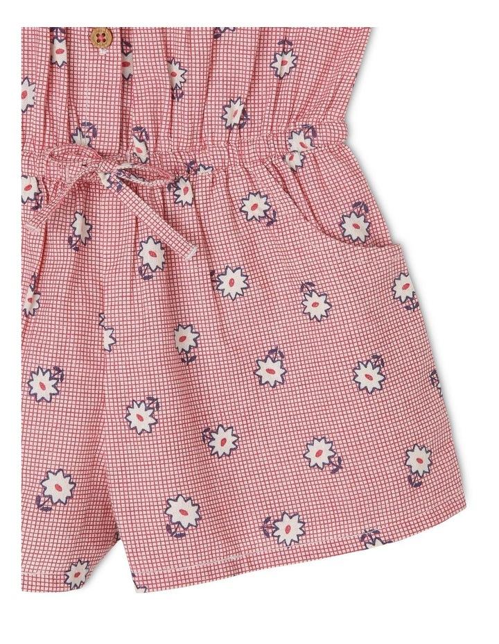 Emily Linen Blend Flutter Sleeve Playsuit with Elastic Waist image 4