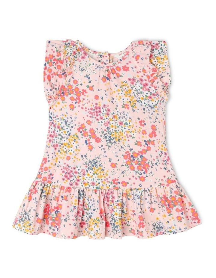 Kitty Knit Double Flutter Sleeve Dress with Peplum Frill Hem image 1