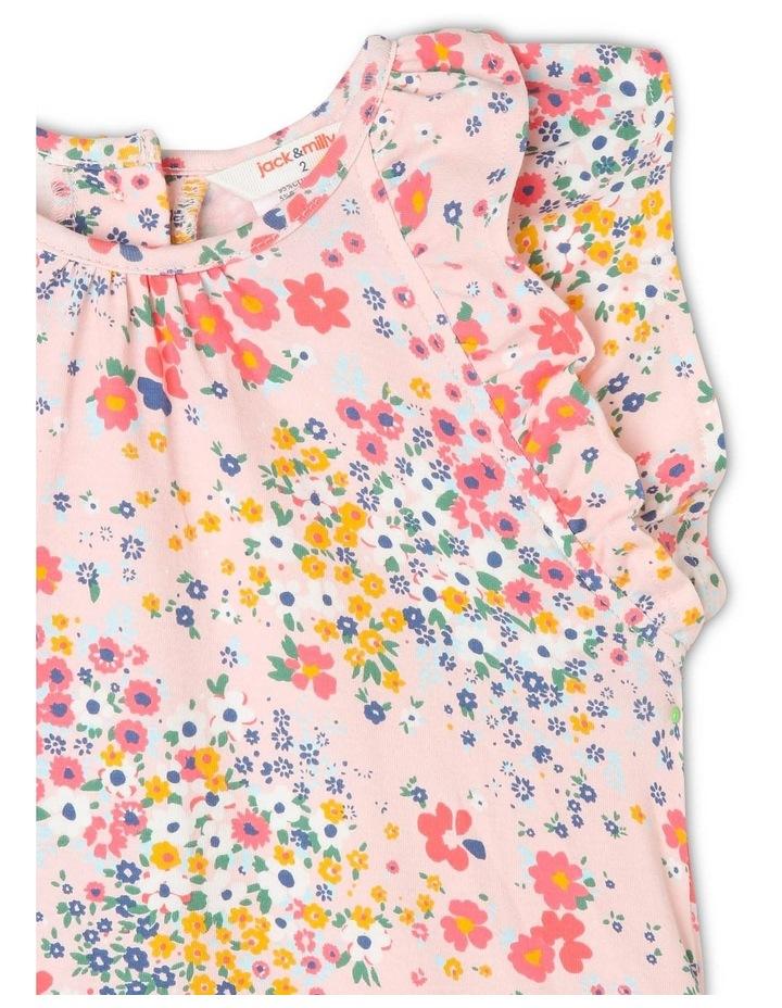 Kitty Knit Double Flutter Sleeve Dress with Peplum Frill Hem image 2