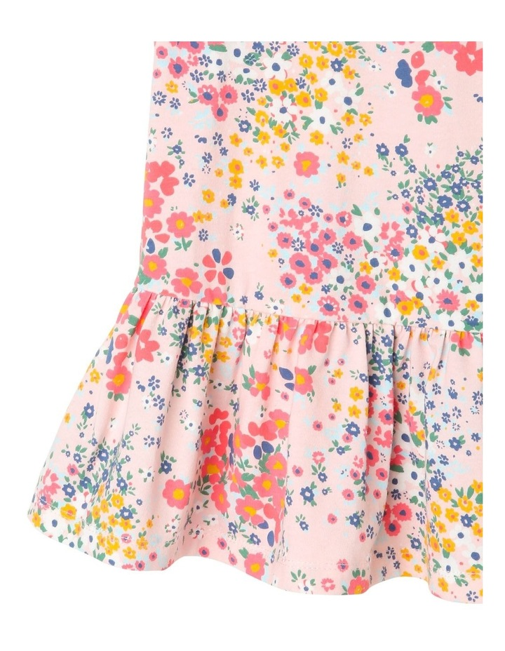 Kitty Knit Double Flutter Sleeve Dress with Peplum Frill Hem image 3