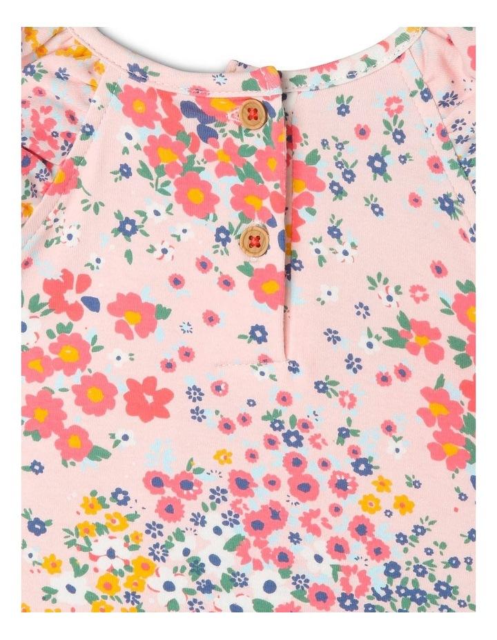 Kitty Knit Double Flutter Sleeve Dress with Peplum Frill Hem image 4