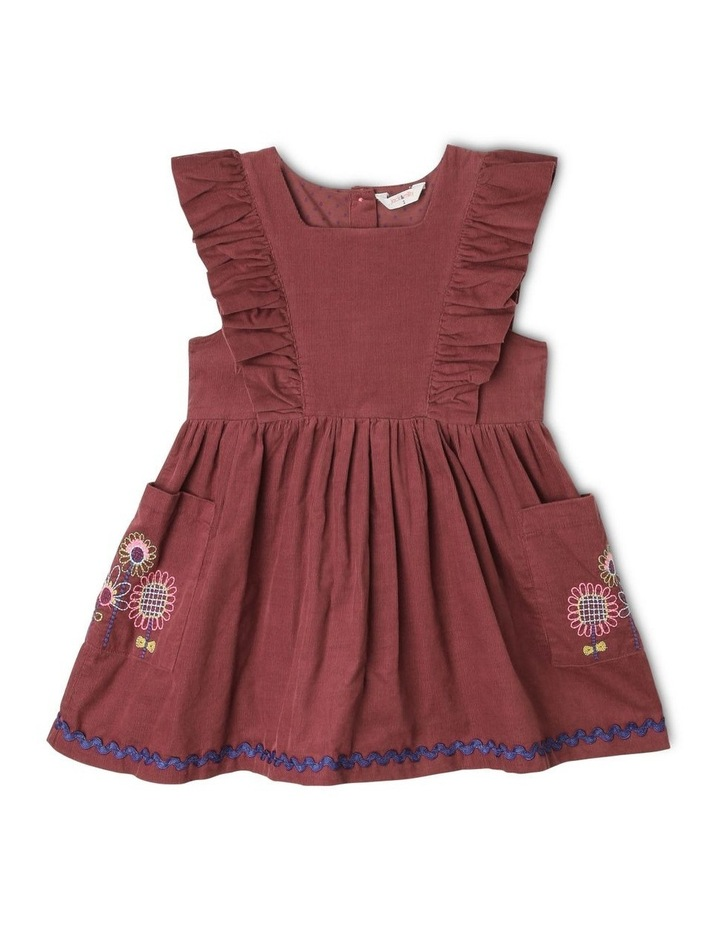 Betty Corduroy Pinafore Dress with Pockets image 1