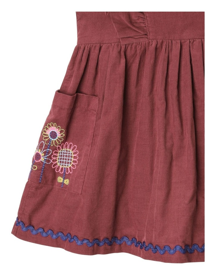 Betty Corduroy Pinafore Dress with Pockets image 3