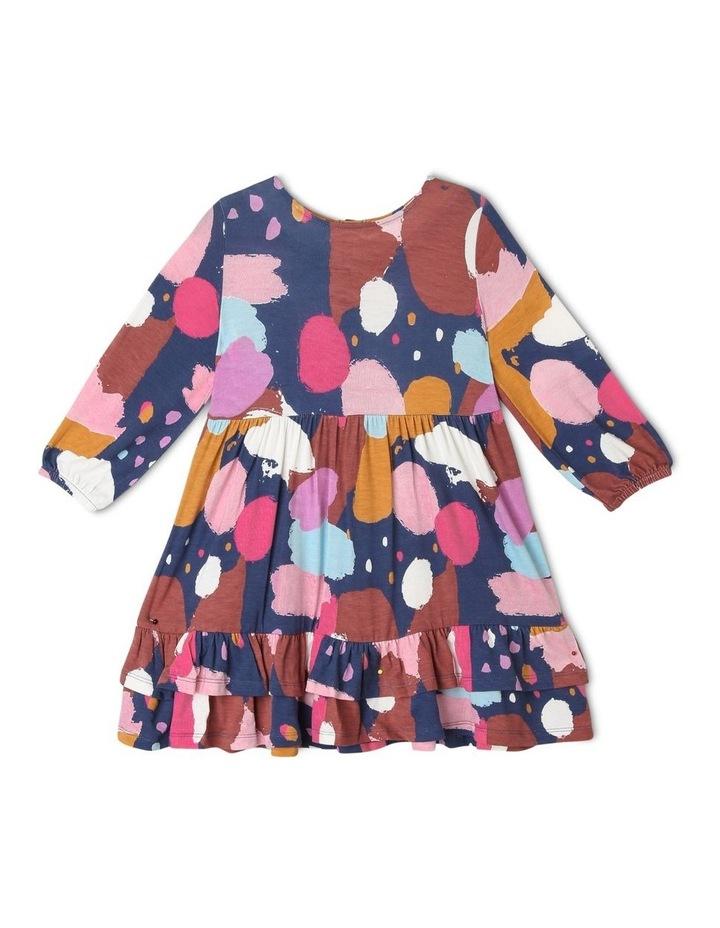 Jemima Knit Dress with Double-Peplum Frill Hem image 1