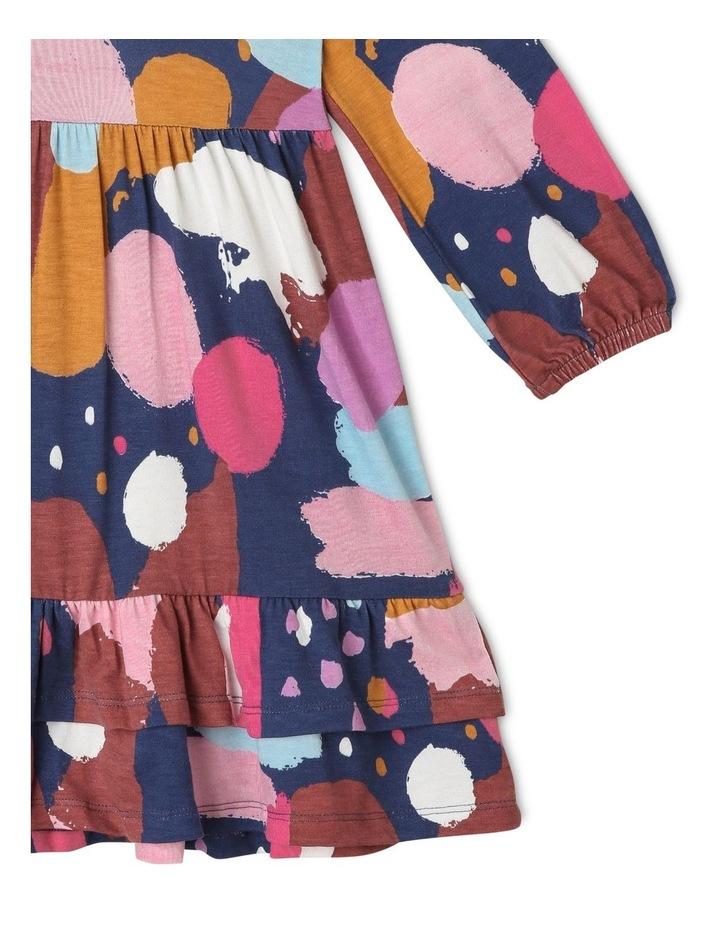 Jemima Knit Dress with Double-Peplum Frill Hem image 2