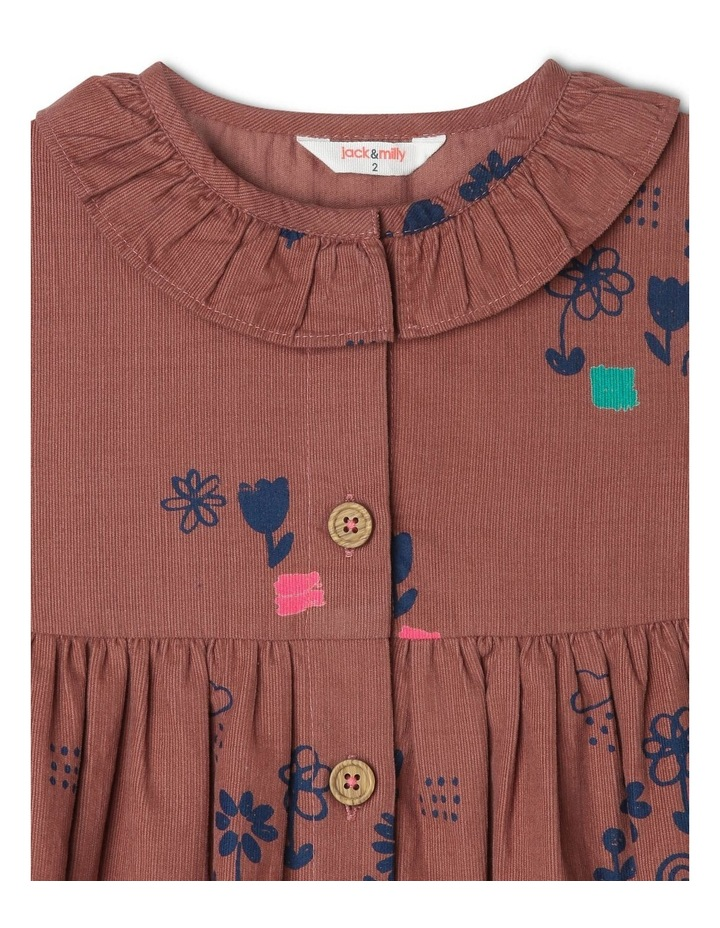 Marley Long Sleeve Babycord Dress with Frill Neck image 3