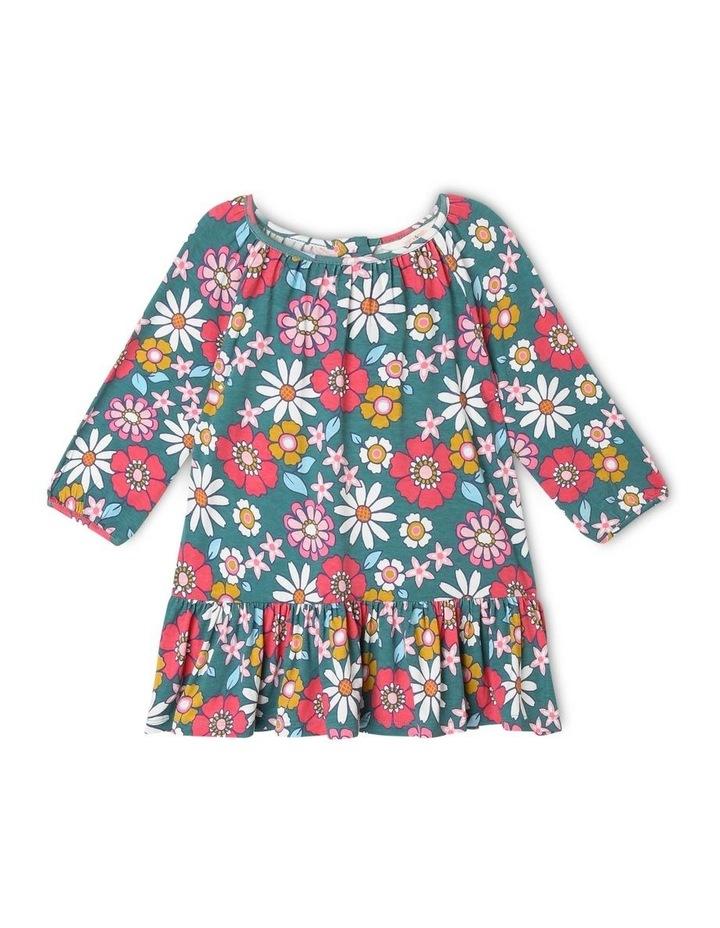 Betty Long Knit Dress with Peplum Frill image 1