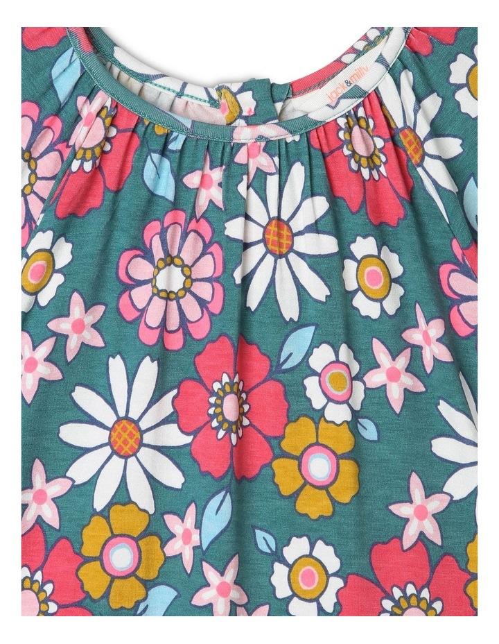 Betty Long Knit Dress with Peplum Frill image 2
