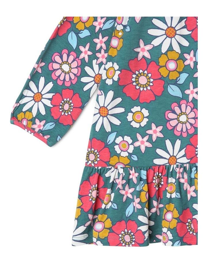 Betty Long Knit Dress with Peplum Frill image 3