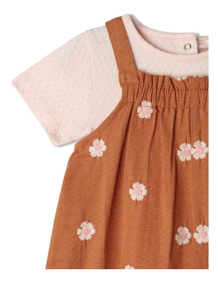 Honey Woven Linen Playsuit & Tee Set image 2
