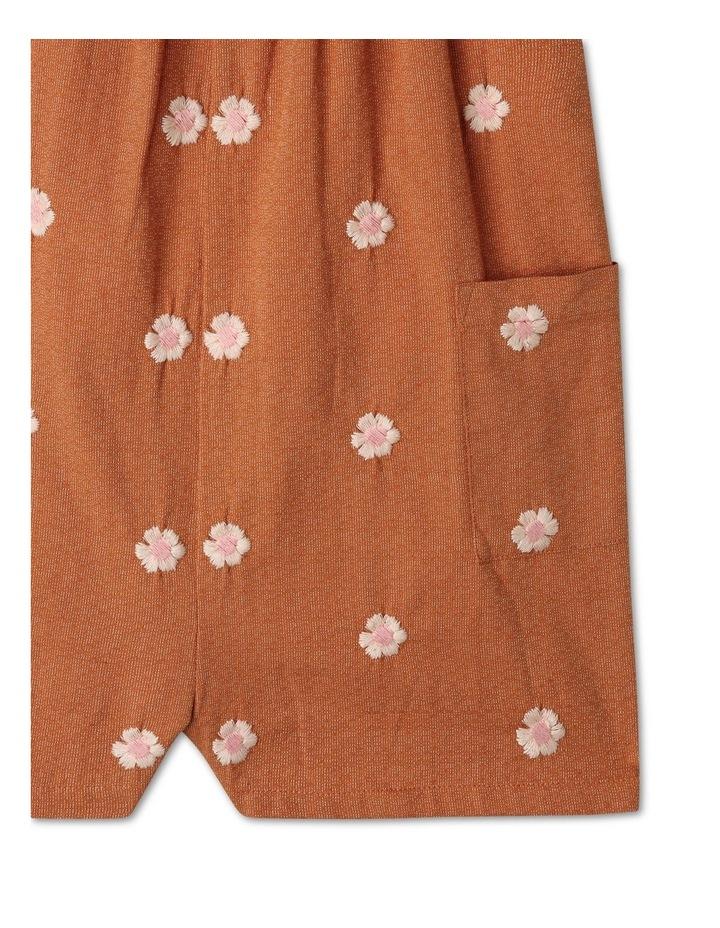 Honey Woven Linen Playsuit & Tee Set image 3