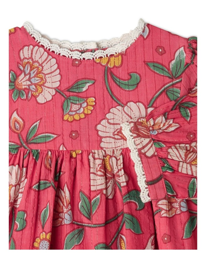 Winnie Woven Lurex Stripe Dress image 2