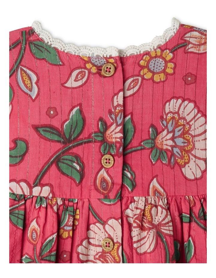 Winnie Woven Lurex Stripe Dress image 5