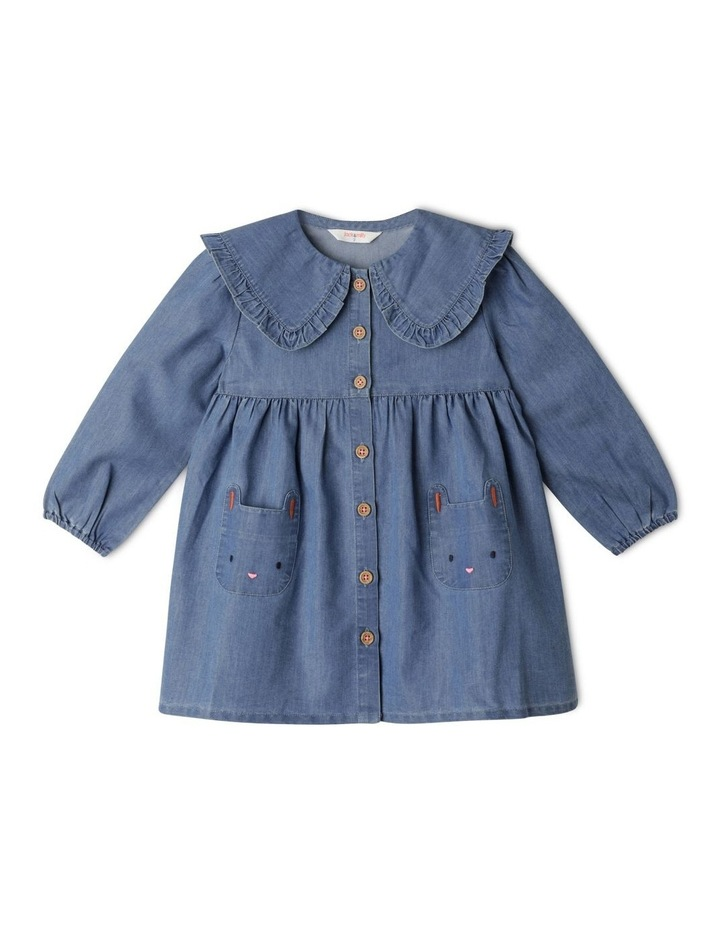 Annie Chambray Dress With Peter Pan Collar image 1