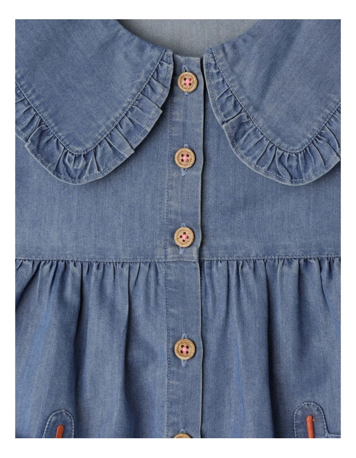 Annie Chambray Dress With Peter Pan Collar image 2