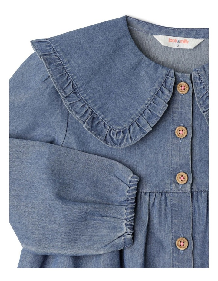 Annie Chambray Dress With Peter Pan Collar image 3