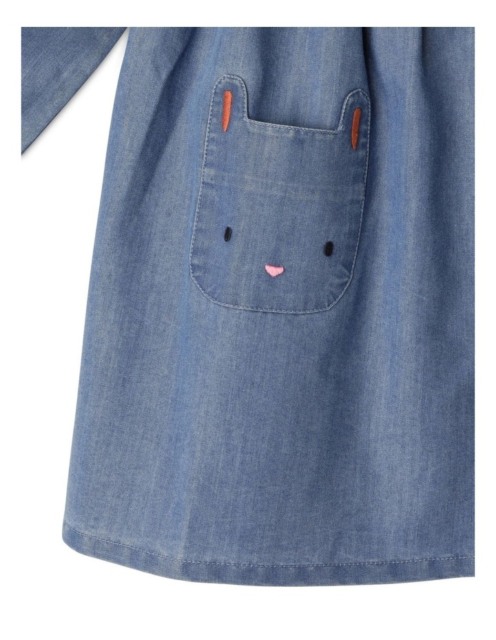 Annie Chambray Dress With Peter Pan Collar image 4