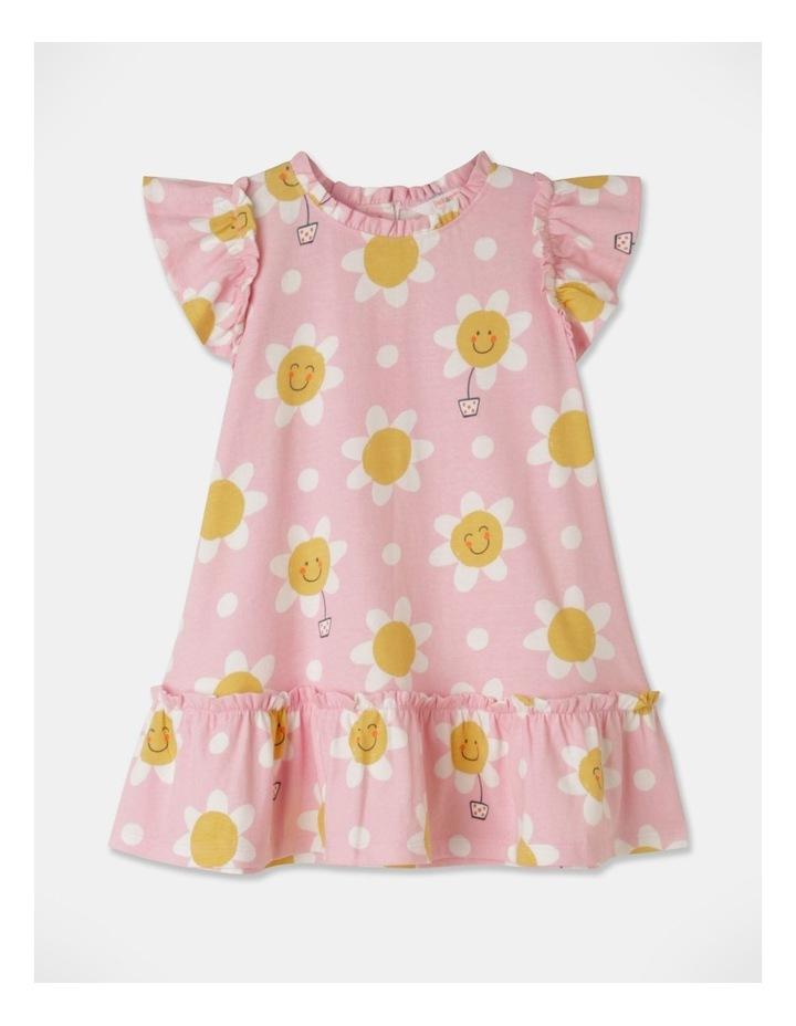 Daisy Ruffle Sleeve Knit Dress Light Pink image 1