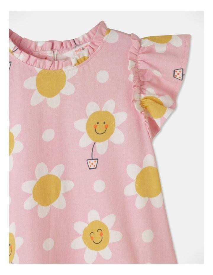 Daisy Ruffle Sleeve Knit Dress Light Pink image 2