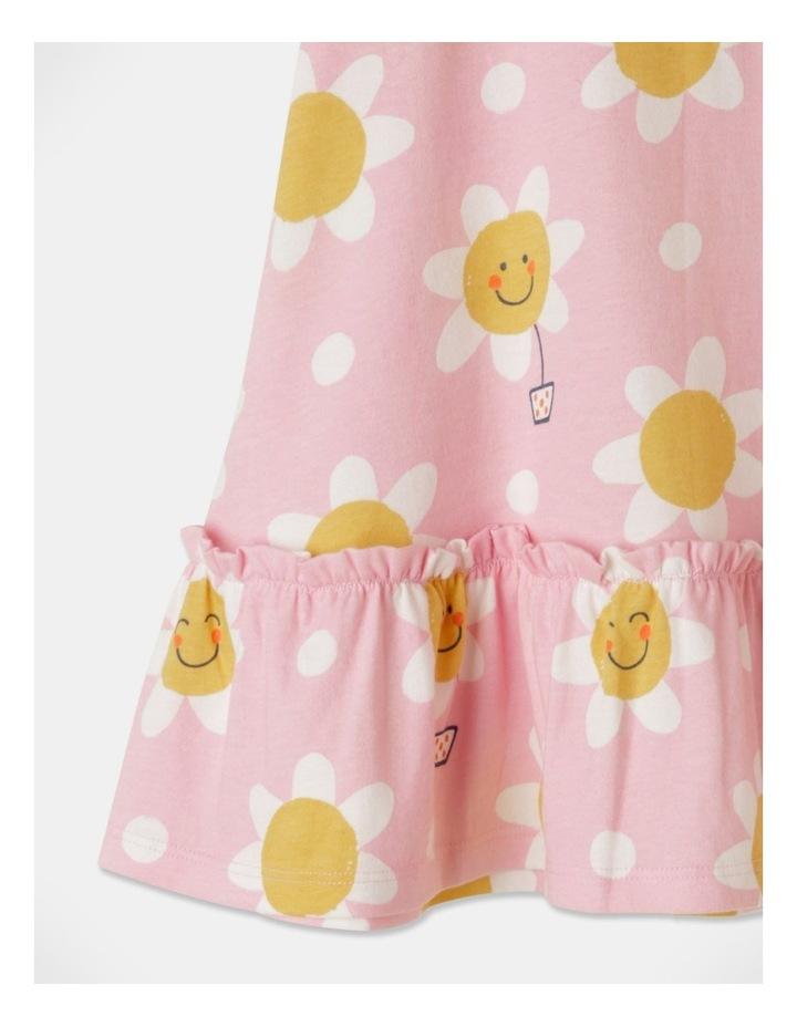 Daisy Ruffle Sleeve Knit Dress Light Pink image 3