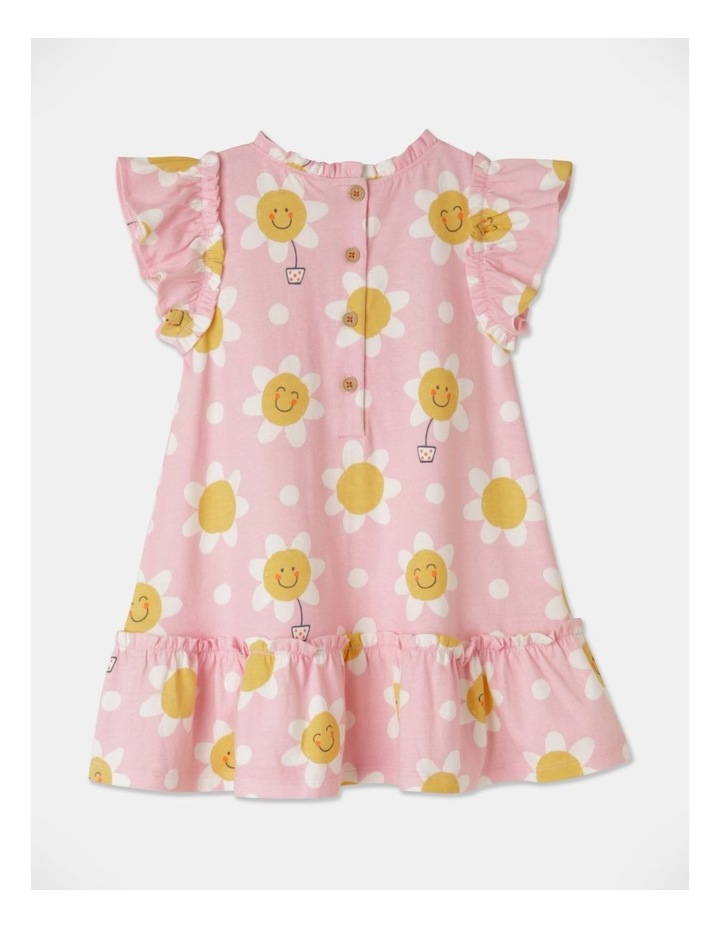 Daisy Ruffle Sleeve Knit Dress Light Pink image 4