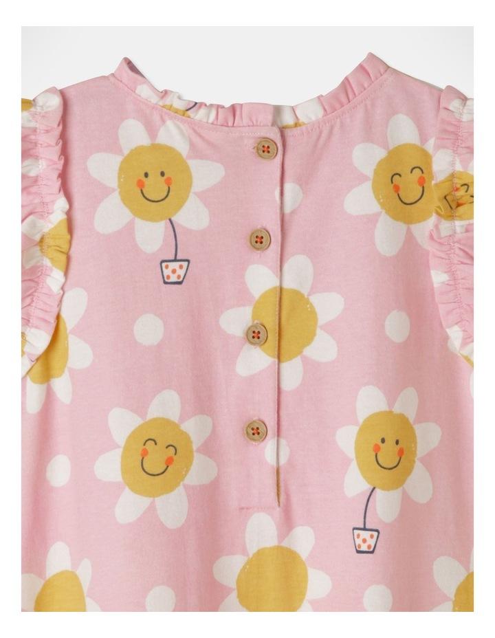 Daisy Ruffle Sleeve Knit Dress Light Pink image 5