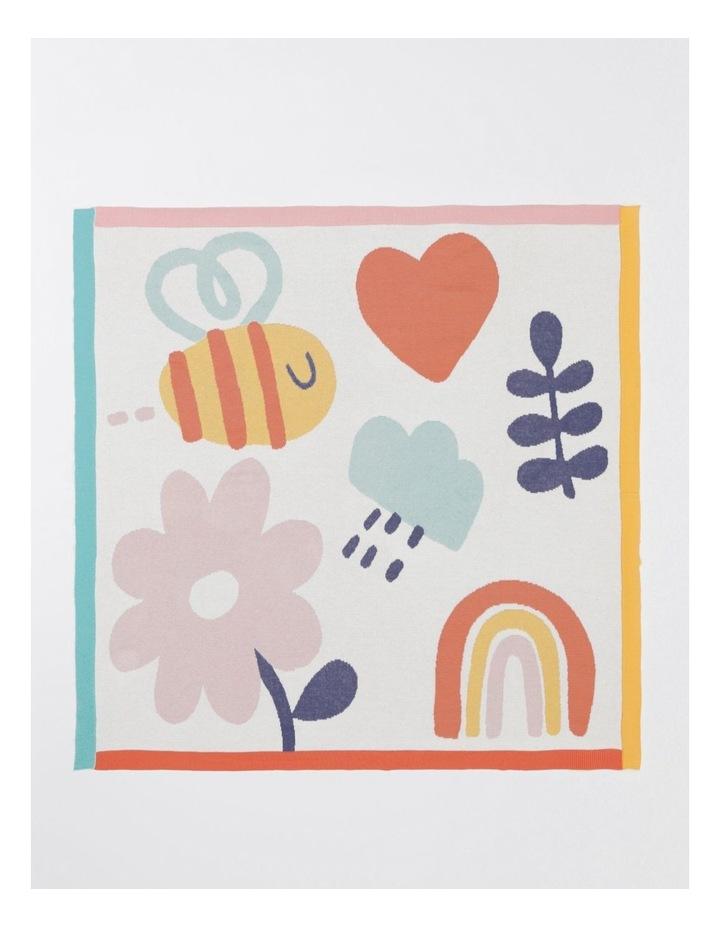 Organic Jacquard Blanket in Multicolour image 1