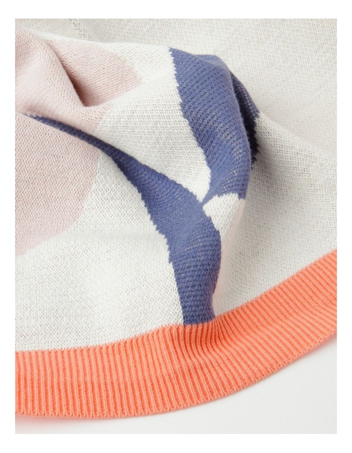 Organic Jacquard Blanket in Multicolour image 2