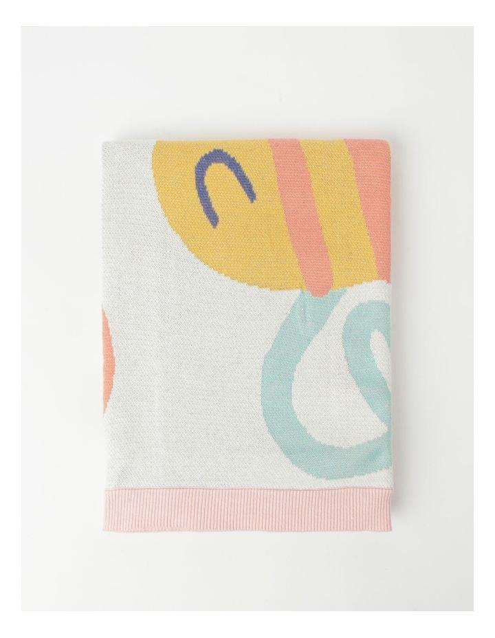 Organic Jacquard Blanket in Multicolour image 3