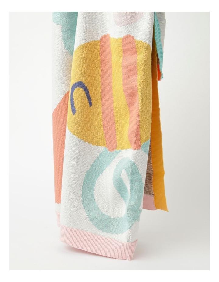 Organic Jacquard Blanket in Multicolour image 4