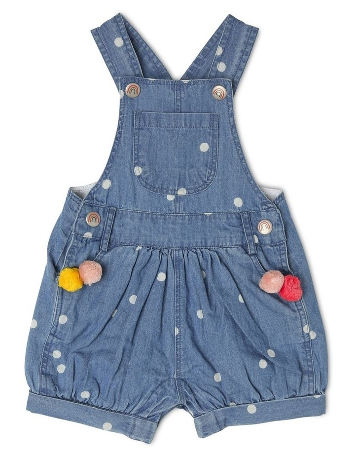 Meggie Chambray Overall With Pom Poms image 1