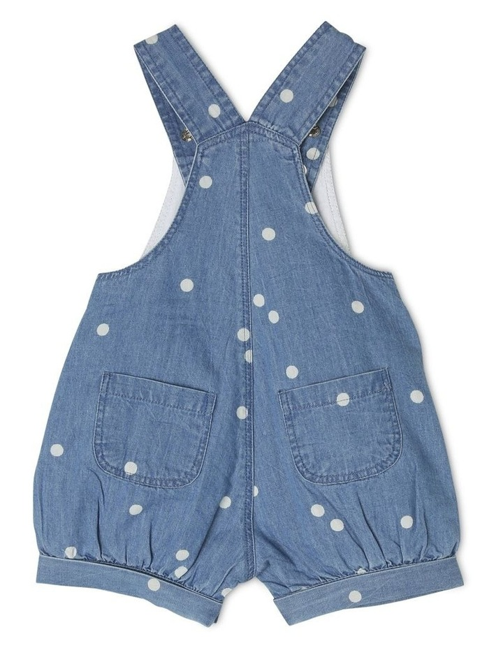 Meggie Chambray Overall With Pom Poms image 2