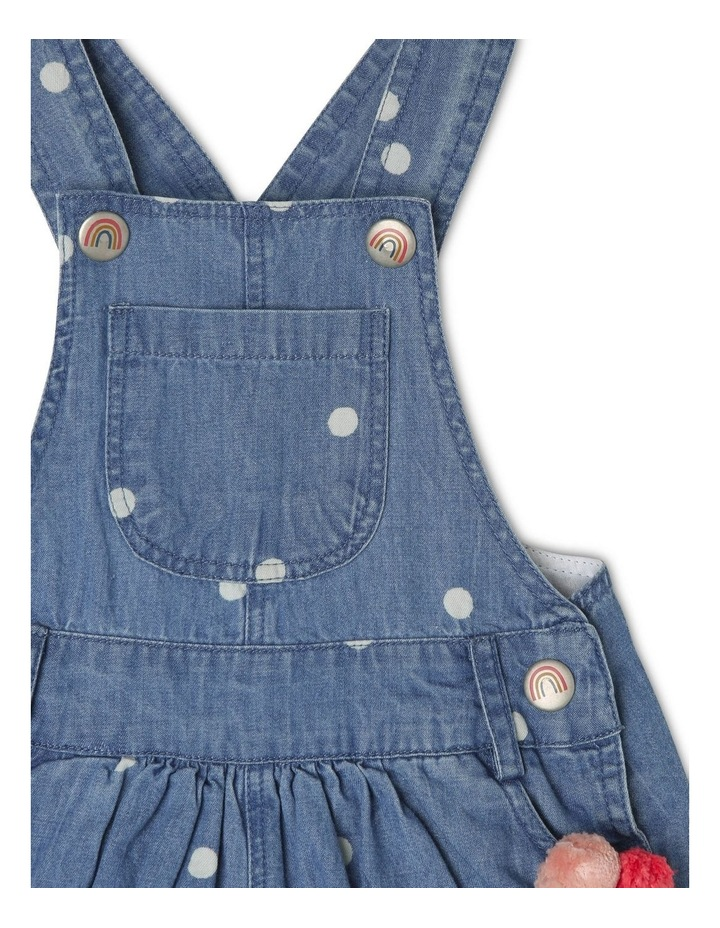 Meggie Chambray Overall With Pom Poms image 3