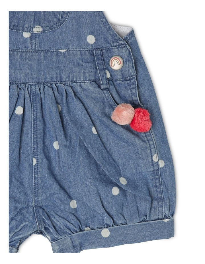 Meggie Chambray Overall With Pom Poms image 4