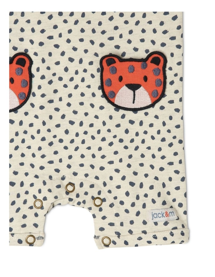 Ollie Knit Romper With 3D Cheetah Pockets image 3