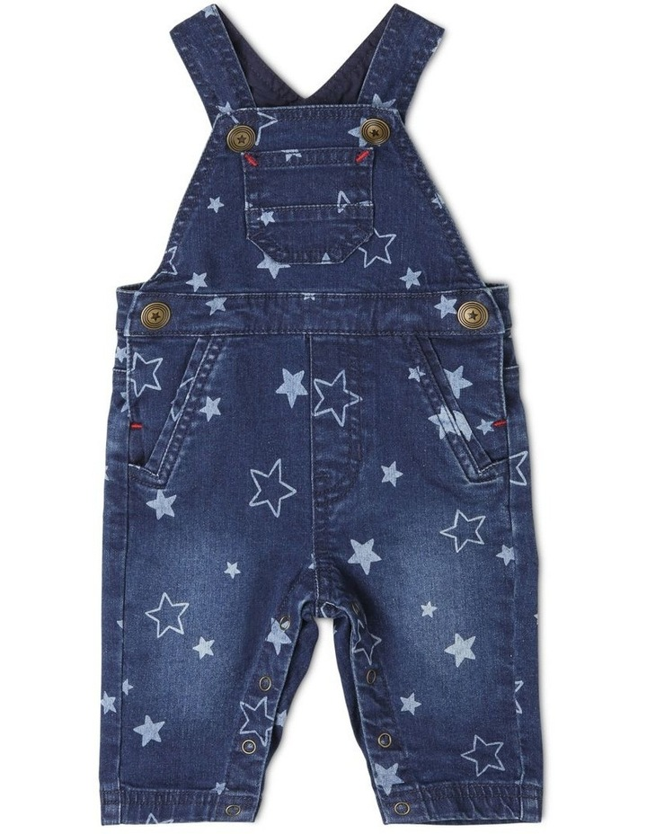 Phil Knit Denim Overall with Star Print image 1