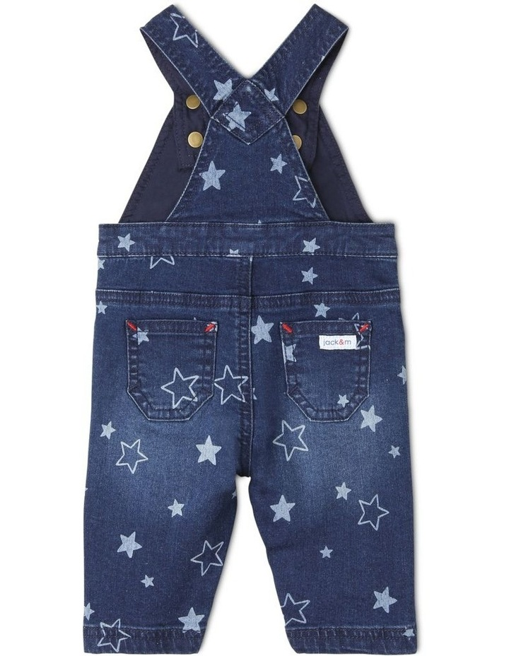 Phil Knit Denim Overall with Star Print image 2