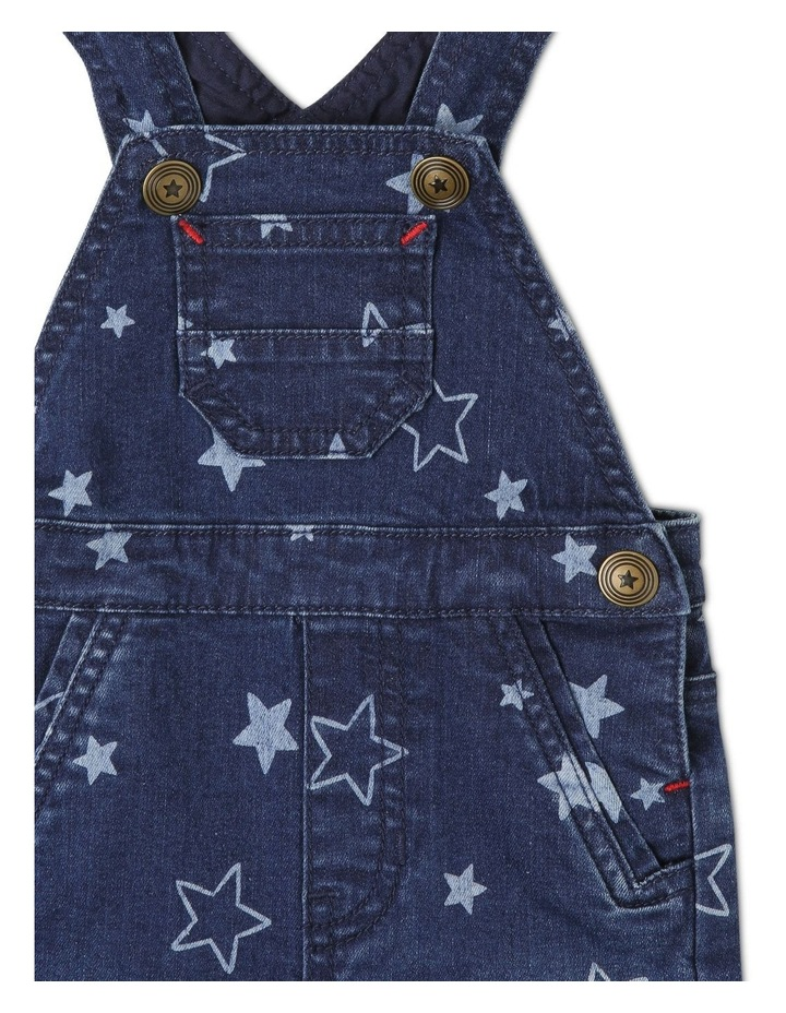 Phil Knit Denim Overall with Star Print image 3