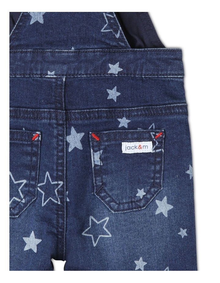 Phil Knit Denim Overall with Star Print image 4