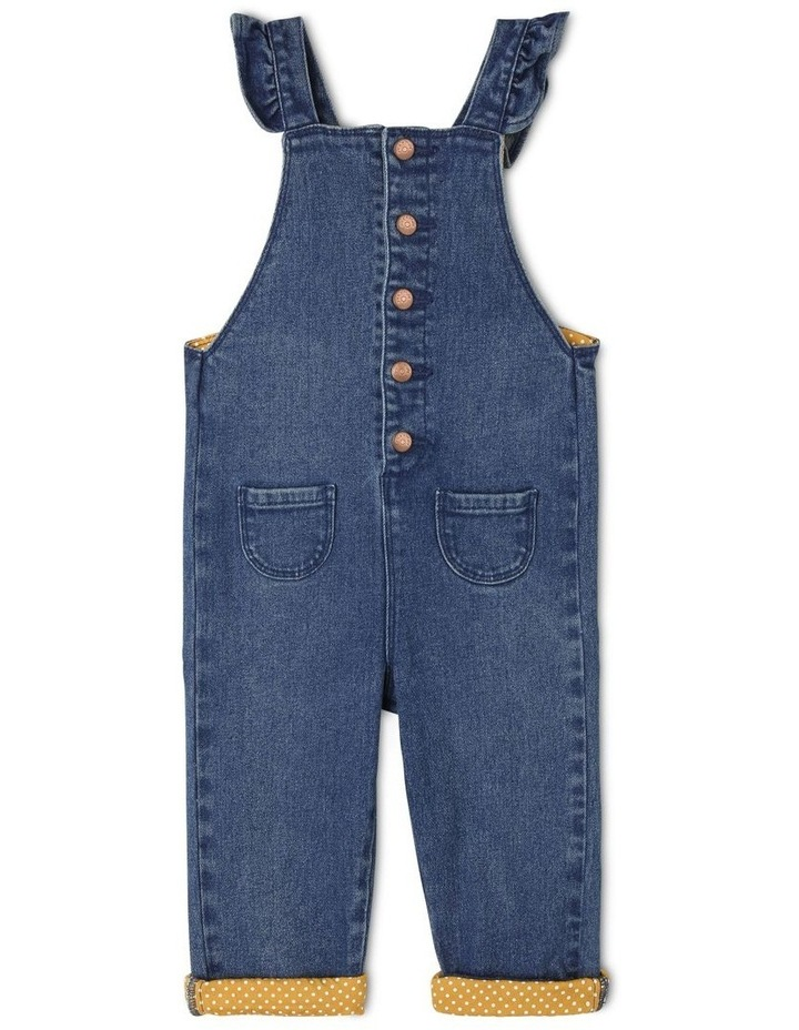 Holly Denim Overall With Frills image 1