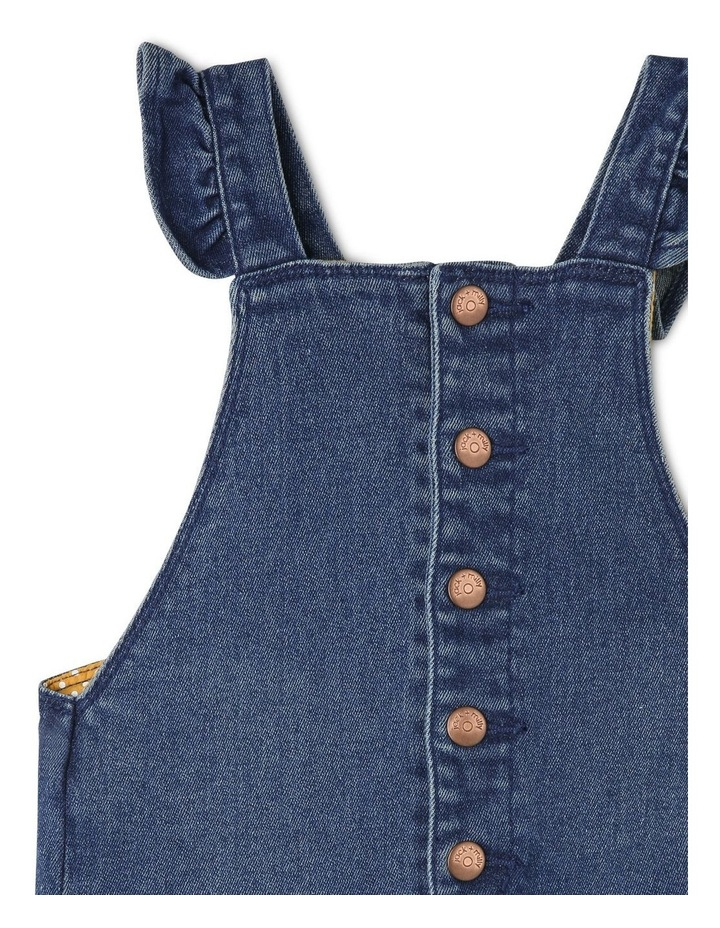 Holly Denim Overall With Frills image 2