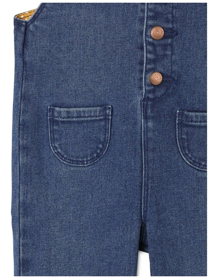 Holly Denim Overall With Frills image 3