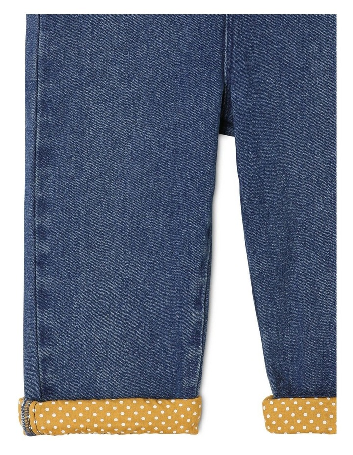 Holly Denim Overall With Frills image 4