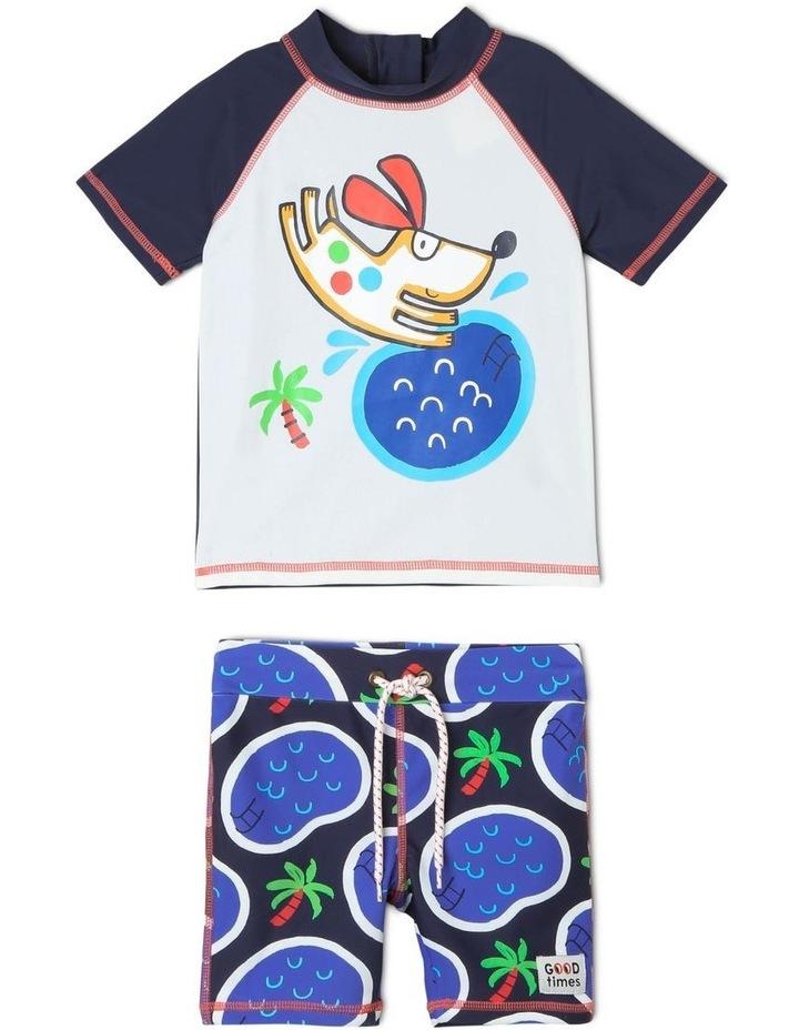 3/4 Sleeve Rash Vest and Short Set image 1
