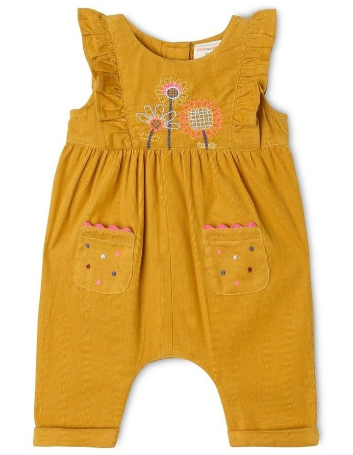 Molly Corduroy Overall with Frills and Embroidery image 1