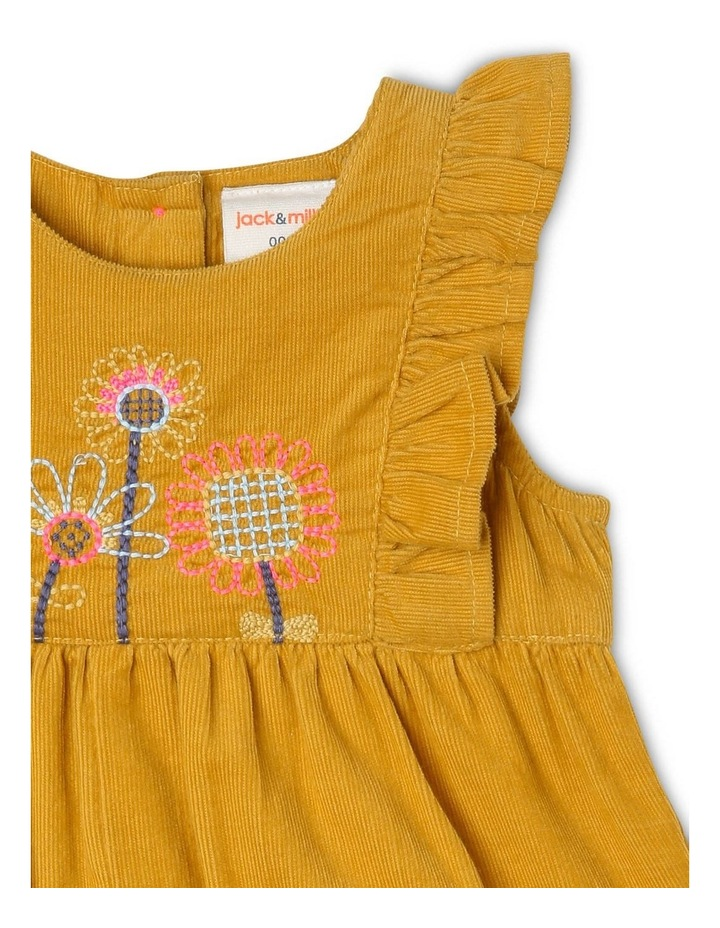 Molly Corduroy Overall with Frills and Embroidery image 2