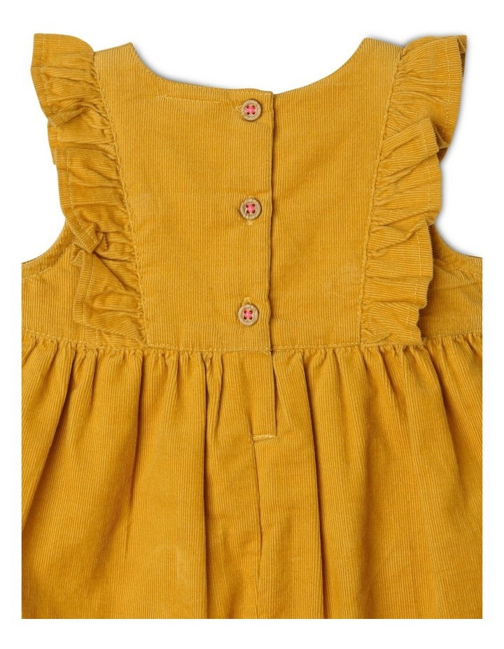 Molly Corduroy Overall with Frills and Embroidery image 3