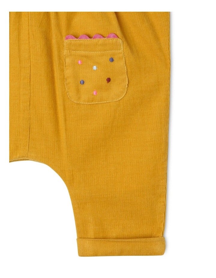 Molly Corduroy Overall with Frills and Embroidery image 4