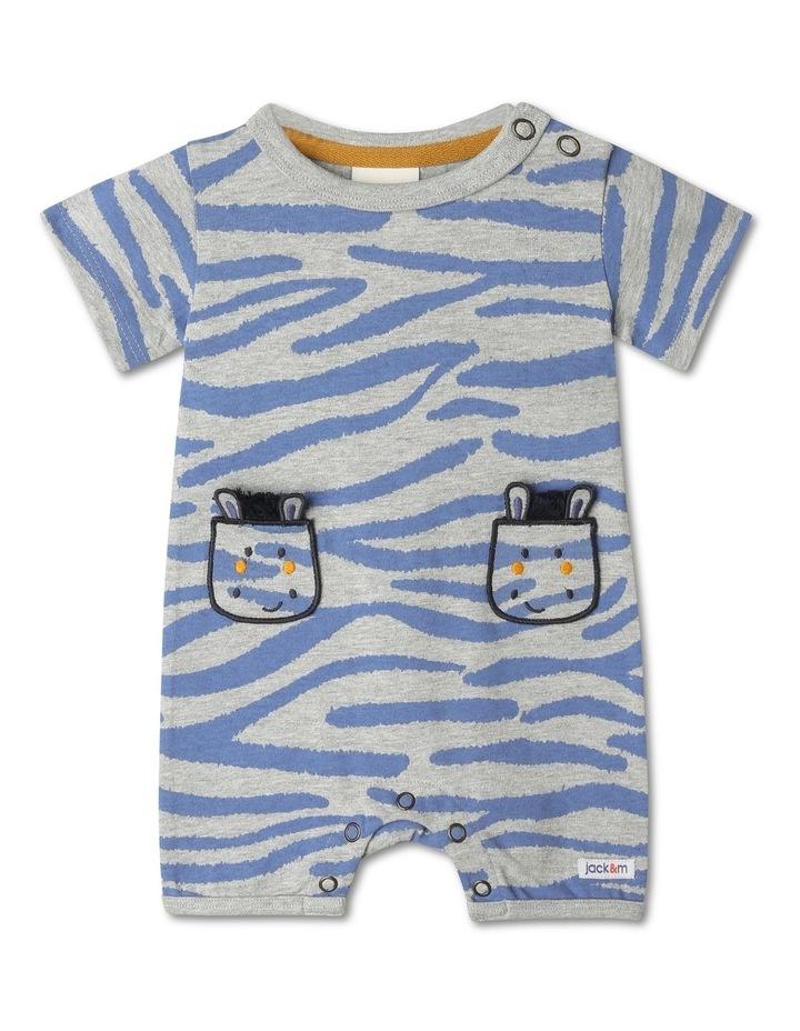 Ollie Stripe Romper With Zebra Pockets image 1